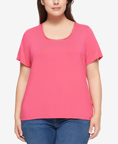 Tommy Hilfiger Plus Size Short-Sleeve Top
