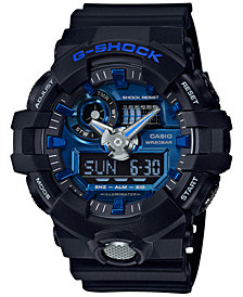 G-Shock Men's Analog-Digital Black Resin Strap Watch 54mm GA710-1A2