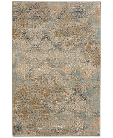 "Karastan Touchstone Moy Willow Gray 2'4"" x 7'10"" Runner Rug"
