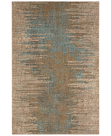 "Karastan Touchstone Virginia Langley Arielle Bronze 2'4"" x 7'10"" Runner Rug"