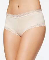 57b3830f3e3 Hanky Panky Organic Cotton Low-Rise Lace-Trim Boyshort 891281