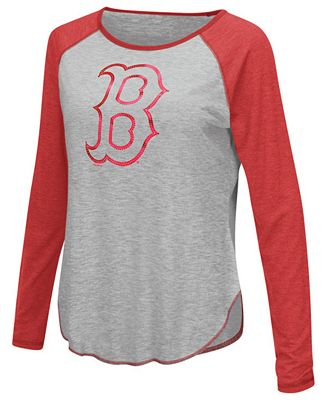Touch by Alyssa Milano Women's Boston Red Sox Line Drive Long Sleeve T-Shirt