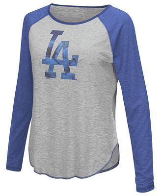 Touch by Alyssa Milano Women's Los Angeles Dodgers Line Drive Long Sleeve T-Shirt