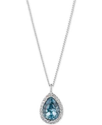 Image of Givenchy Crystal Pendant Necklace