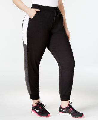 Ideology Plus Size Colorblocked Joggers, Only at Macy's