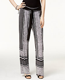 I.N.C. Petite Printed Soft Pants, Created for Macy's