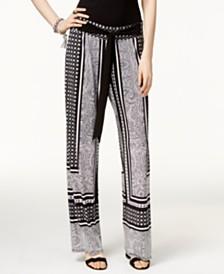 I.N.C. Petite Printed Soft Pants, Created for Macy's