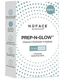 NuFACE 5-Pk. Cleanse, Exfoliate, Hydrate Prep-N-Glow Cloths