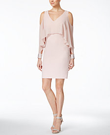 Calvin Klein Cold-Shoulder Popover Sheath Dress