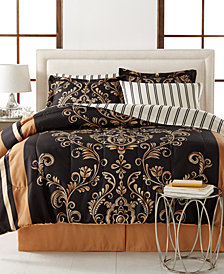 CLOSEOUT! Sabrina Reversible 8-Piece Queen Bedding Ensemble