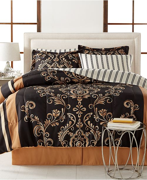 Fairfield Square Collection Sabrina 8-Pc. Reversible Bedding Ensembles
