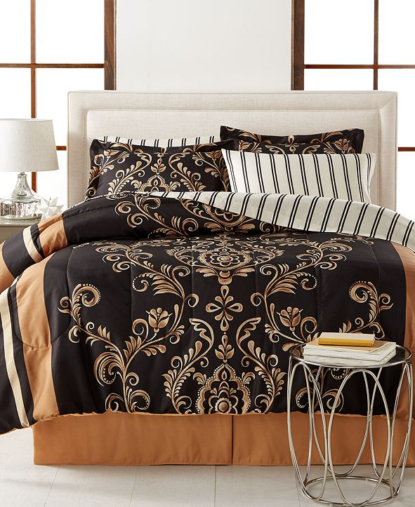 Fairfield Square Collection Sabrina Reversible 8-Piece Full Bedding Set