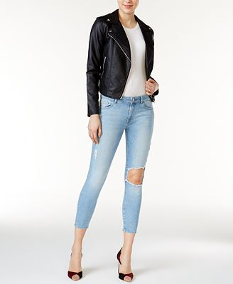 DL 1961 Florence Ripped Clifton Wash Cropped Skinny Jeans