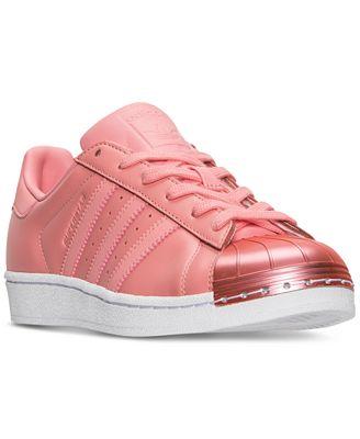 adidas superstar delle donne di metallo l'occasionale scarpe dal traguardo