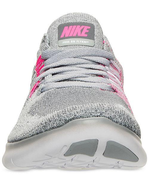 the latest 954de c082d Nike Big Girls' Free Run Flyknit 2017 Running Sneakers from ...