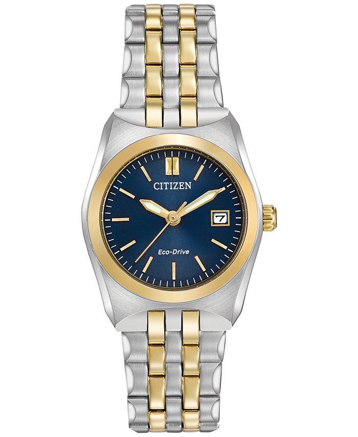 Citizen - Women's Eco-Drive Two-Tone Stainless Steel Bracelet Watch 28mm EW2294-53L