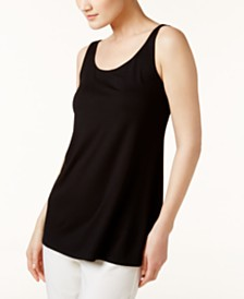 Eileen Fisher SYSTEM Stretch Jersey Sleeveless Scoop-Neck Shell, Regular & Petite