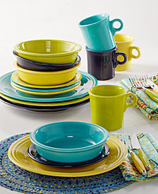 Fiesta Mixed Cool Colors 16-Piece Set, Service for 4, Created for Macy's