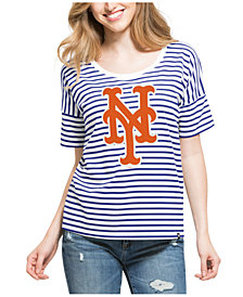 '47 Brand Women's New York Mets Coed Stripe T-Shirt