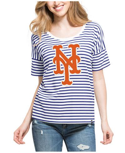 '47 Brand Women's New York Mets Coed Stripe T-Shirt