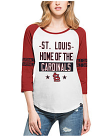 '47 Brand Women's St. Louis Cardinals Triple Crown Raglan T-Shirt