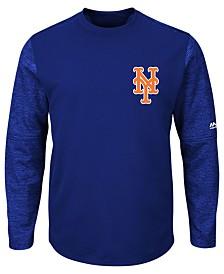 Majestic Men's New York Mets AC On-Field Tech Fleece Pullover