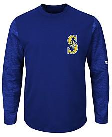 Majestic Men's Seattle Mariners AC On-Field Tech Fleece Pullover