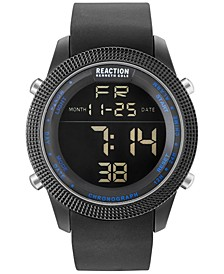 Men's Digital Black Silicone Strap Watch 50mm 10031945