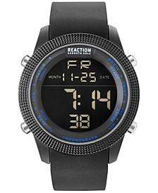 Men's Digital Black Silicone Strap Watch 50mm 10031945