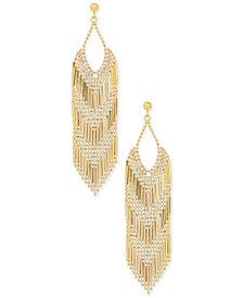 Multi-Bead Chandelier Drop Earrings in 14k Gold