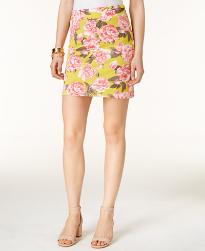 INC International Concepts Printed A-Line Skirt, Only at Macy's ...