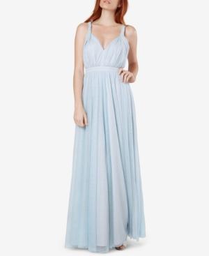 Vintage Evening Dresses and Formal Evening Gowns Fame and Partners Laurel Twisted-Strap Tulle Gown $249.00 AT vintagedancer.com