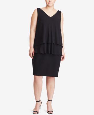Tiered chiffon dress plus size