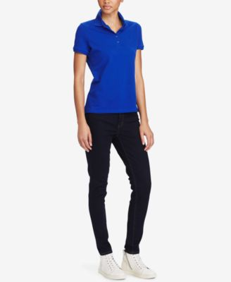 Image of Lauren Ralph Lauren Stretch-Piqué Polo