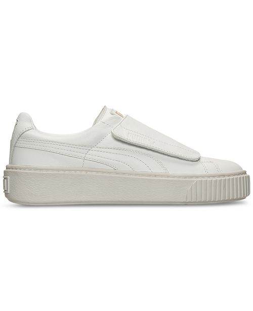 d7086e553ad Puma Women s Basket Platform Strap Casual Sneakers from Finish Line ...