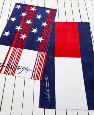tommy hilfiger home cotton beach towel collection - Beach Towel