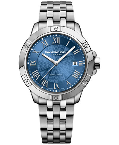 RAYMOND WEIL Men's Swiss Tango Stainless Steel Bracelet Watch 41mm 8160-ST-00508