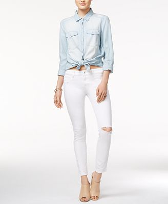 DL 1961 Margaux Ripped Wilder Wash Skinny Jeans