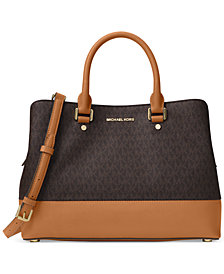 MICHAEL Michael Kors Signature Savannah Large Satchel