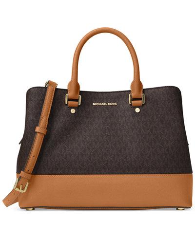 MICHAEL Michael Kors Signature Savannah Large Satchel - Handbags ...