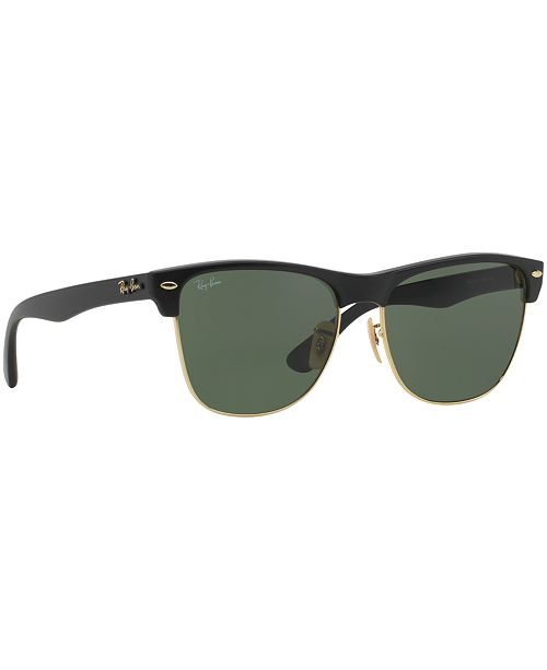 Ray-Ban Sunglasses, RB4175 CLUBMASTER OVERSIZED - Sunglasses by ... 4b3f16c2982b