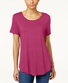 JM Collection Petite Shirttail-Hem Top, Created for Macy's