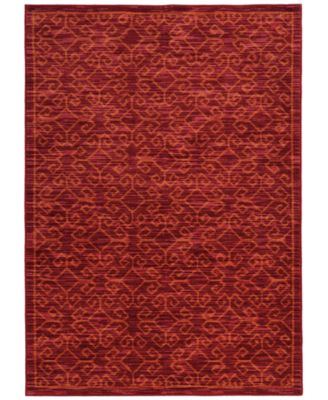 "CLOSEOUT!  Brookside Kai Red 6'7"" x 9'6"" Area Rug"