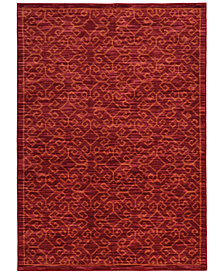 "CLOSEOUT! JHB Design  Brookside Kai Red 6'7"" x 9'6"" Area Rug"