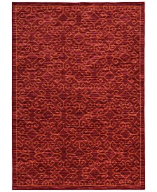 "CLOSEOUT! JHB Design  Brookside Kai Red 7'10"" x 10'10"" Area Rug"