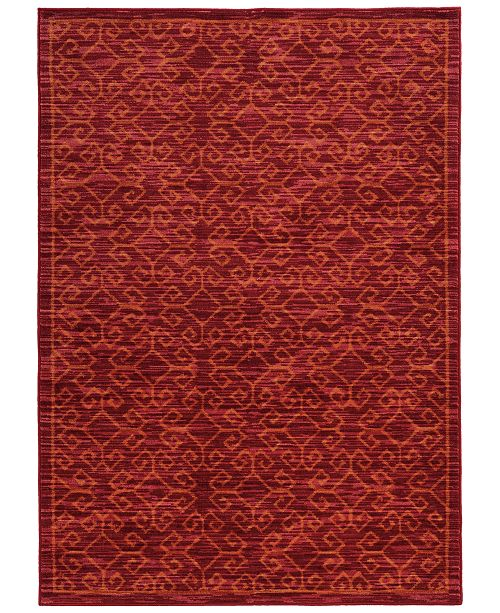 JHB Design CLOSEOUT!  Brookside Kai Red Area Rug