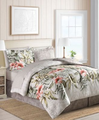 CLOSEOUT! Palm Bay Reversible 6-Pc. Twin Bedding Ensemble