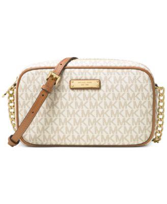 michael kors signature jet set item east west crossbody handbags rh macys com