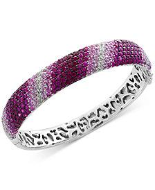 Splash by EFFY® Pink Sapphire Ombré Bangle Bracelet (13 ct. t.w.) in Sterling Silver
