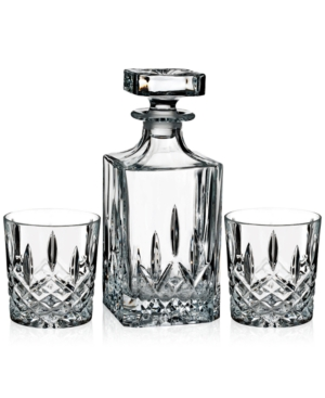 Marquis By Waterford Brady Double Old Fashioned Pair With Decanter